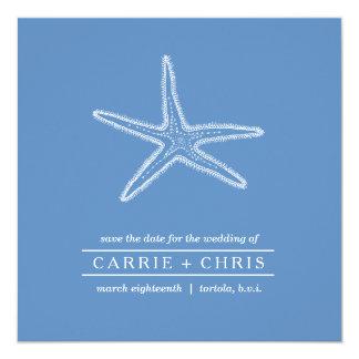 Reserva del ejemplo de las estrellas de mar la invitación 13,3 cm x 13,3cm