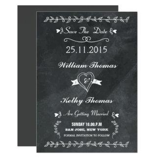 Reserva del estilo de la pizarra la postal de la invitación 12,7 x 17,8 cm