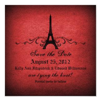 Reserva del Flourish del francés del vintage la Invitación 13,3 Cm X 13,3cm