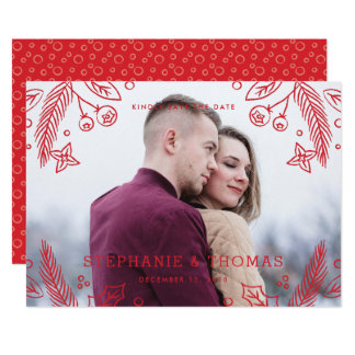 Reserva del Flourish del invierno la tarjeta de Invitación 12,7 X 17,8 Cm