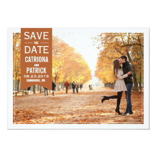 Reserva del marco del boda de la caída la invitación 12,7 x 17,8 cm