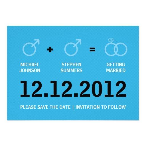 Reserva del matrimonio homosexual la invitación de