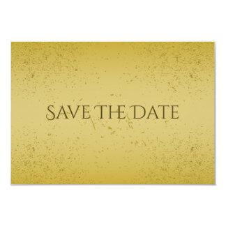 Reserva del oro del vintage las tarjetas de fecha invitación 8,9 x 12,7 cm