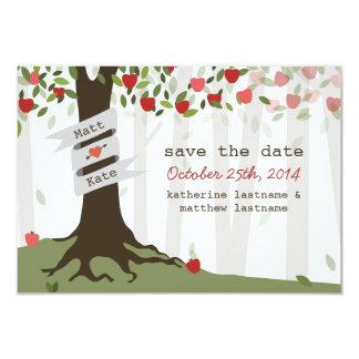 Reserva del otoño de la caída del boda del invitación 8,9 x 12,7 cm