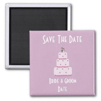 Reserva del pastel de bodas el imán de la fecha