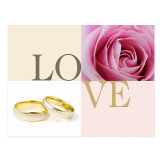 Reserva del personalizado de los anillos de bodas postal