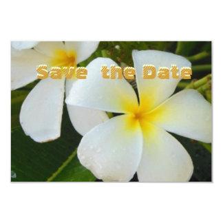 Reserva del Plumeria las tarjetas de fecha con los Invitación 8,9 X 12,7 Cm