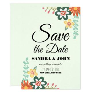 Reserva del ramo floral la fecha invitación 12,7 x 17,8 cm