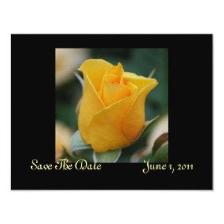 Reserva del rosa de la amistad las tarjetas de invitación 10,8 x 13,9 cm