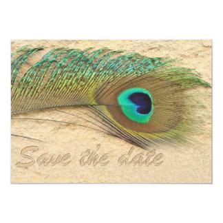 reserva del trullo del azul de cobalto del pavo invitación 12,7 x 17,8 cm