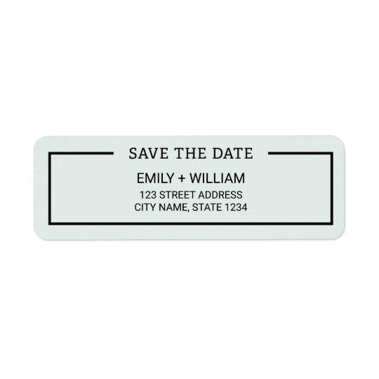 Reserva Editable del Minimalist del color la fecha Etiqueta De Remite