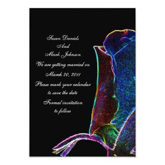 Reserva eléctrica del boda del negro del capullo invitación 12,7 x 17,8 cm