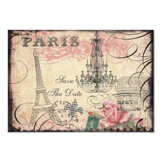 Reserva elegante de la torre Eiffel y de la Invitación 8,9 X 12,7 Cm