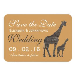 Reserva elegante del boda de la jirafa de la invitación 8,9 x 12,7 cm