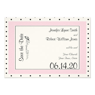 Reserva elegante del boda de la mariposa del lunar invitaciones personalizada