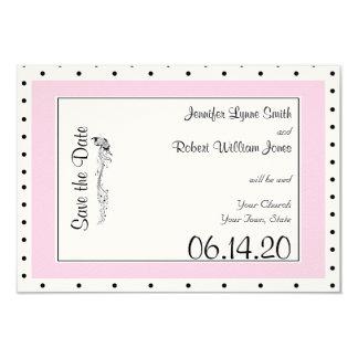 Reserva elegante del boda de la mariposa del lunar invitación 8,9 x 12,7 cm