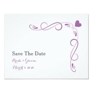 Reserva elegante del boda del marco del corazón la invitación 10,8 x 13,9 cm