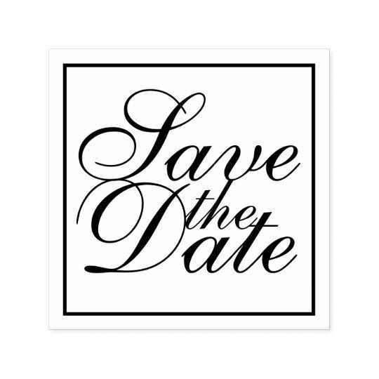 Reserva elegante del boda la fecha sello automático