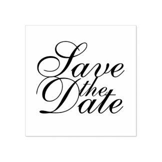 Reserva elegante del boda la fecha sello de caucho