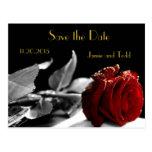 Reserva elegante del rosa rojo la fecha postal