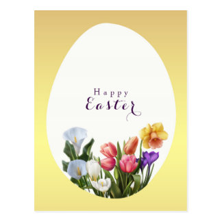 Reserva elegante floral del huevo de Pascua de la Postal
