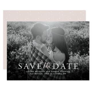 Reserva elegante la fecha invitación 12,7 x 17,8 cm