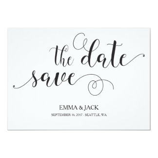 Reserva elegante la tarjeta de fecha - caligrafía