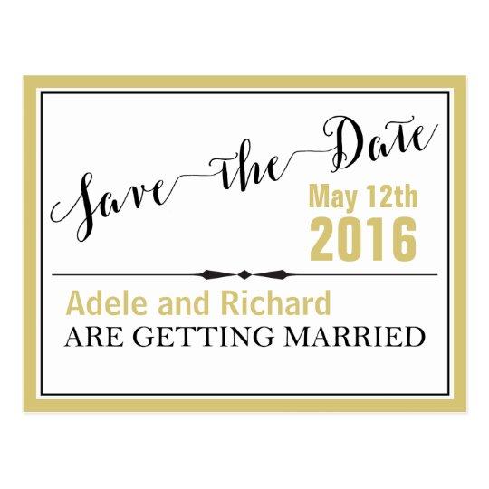 Reserva elegante moderna del boda la fecha postal