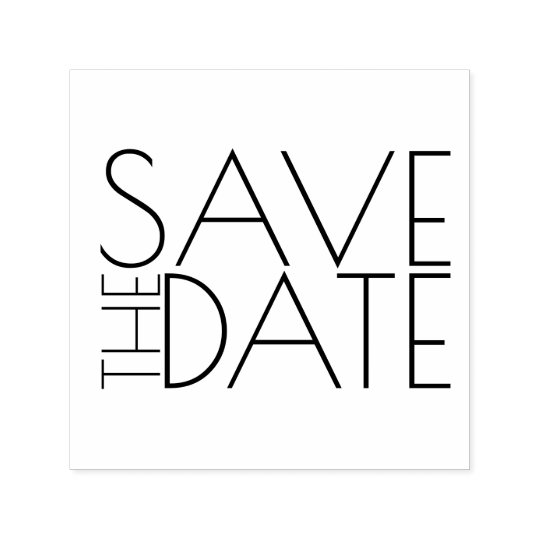 Reserva elegante moderna del boda la fecha sello automático