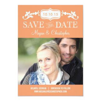 Reserva eterna del amor la fecha - color Editable Invitación 12,7 X 17,8 Cm