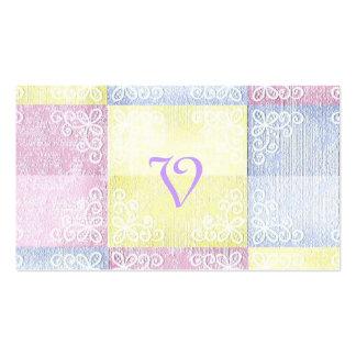 Reserva--Fecha azul rosada que casa pasteles Tarjetas De Visita