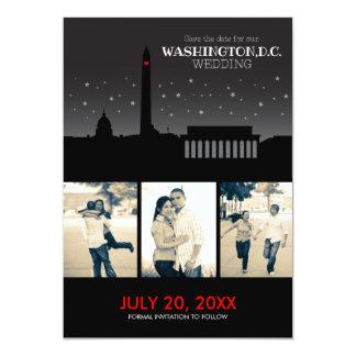 Reserva--fecha de Washington D.C. Wedding Invitación 12,7 X 17,8 Cm