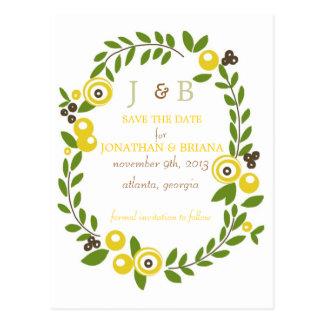 Reserva floral de la caída amarilla las postales