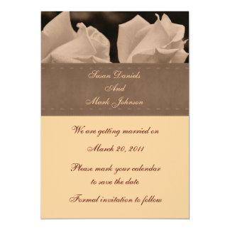 Reserva floral del boda de los pares del capullo invitación 12,7 x 17,8 cm