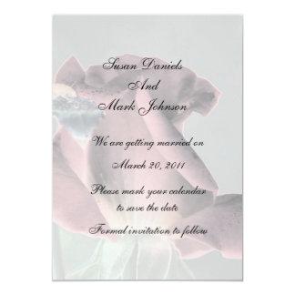 Reserva floral del boda del capullo de rosa invitación 12,7 x 17,8 cm