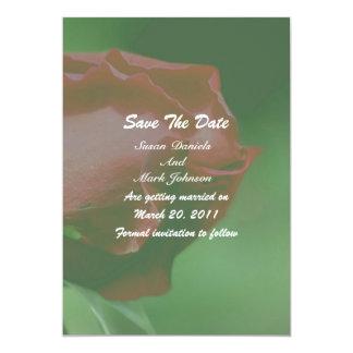 Reserva floral del boda del capullo de rosa rojo invitación 12,7 x 17,8 cm