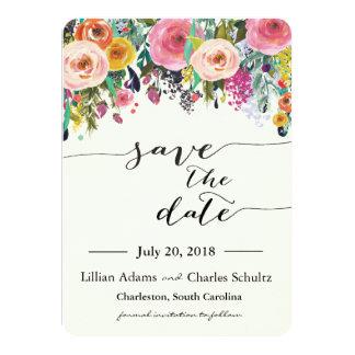 Reserva floral del jardín romántico la tarjeta de
