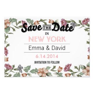 Reserva floral del marco del vintage las tarjetas invitaciones personales