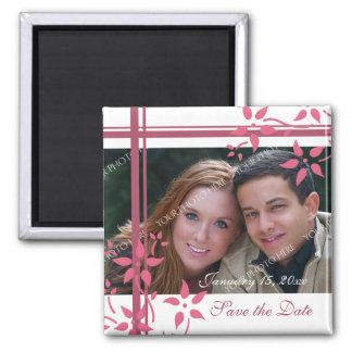 Reserva floral del rosa y blanca de la foto el imanes