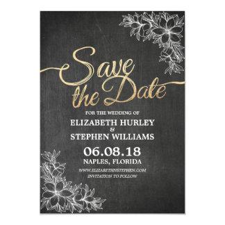 Reserva floral elegante del boda del marco de la invitación 12,7 x 17,8 cm