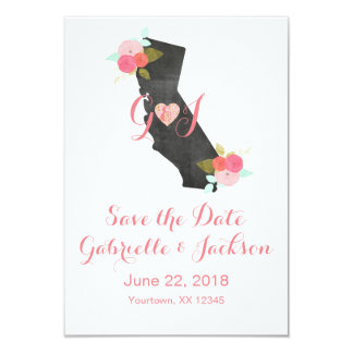 Reserva floral elegante del estado de California Invitación 8,9 X 12,7 Cm