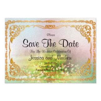 Reserva floral la fecha invitación 12,7 x 17,8 cm
