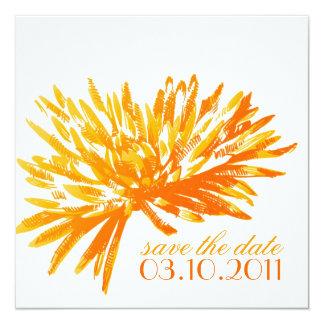 Reserva floral moderna las tarjetas de fecha invitación 13,3 cm x 13,3cm
