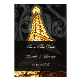 reserva francesa del boda de la torre Eiffel del Invitación 12,7 X 17,8 Cm
