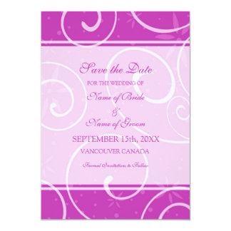 Reserva fucsia del boda de la foto de los invitación 12,7 x 17,8 cm