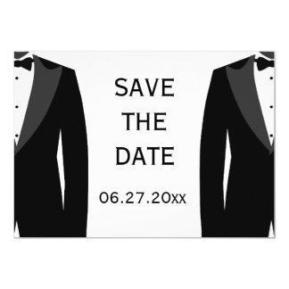 Reserva gay blanco y negro del boda la tarjeta de invitación 12,7 x 17,8 cm