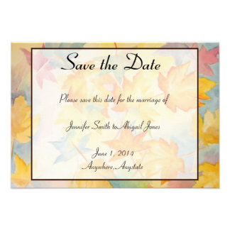 Reserva gay del boda de las hojas de la caída la f invitacion personal