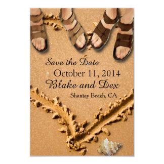 Reserva gay del boda de playa las tarjetas de comunicado personalizado