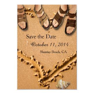 Reserva gay del boda de playa las tarjetas de invitaciones personales