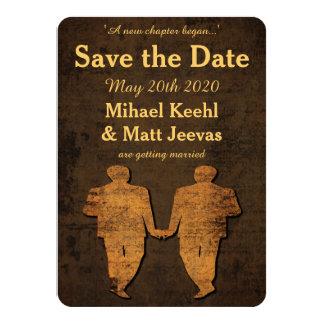 Reserva gay del boda del amor legendario la invitación 11,4 x 15,8 cm